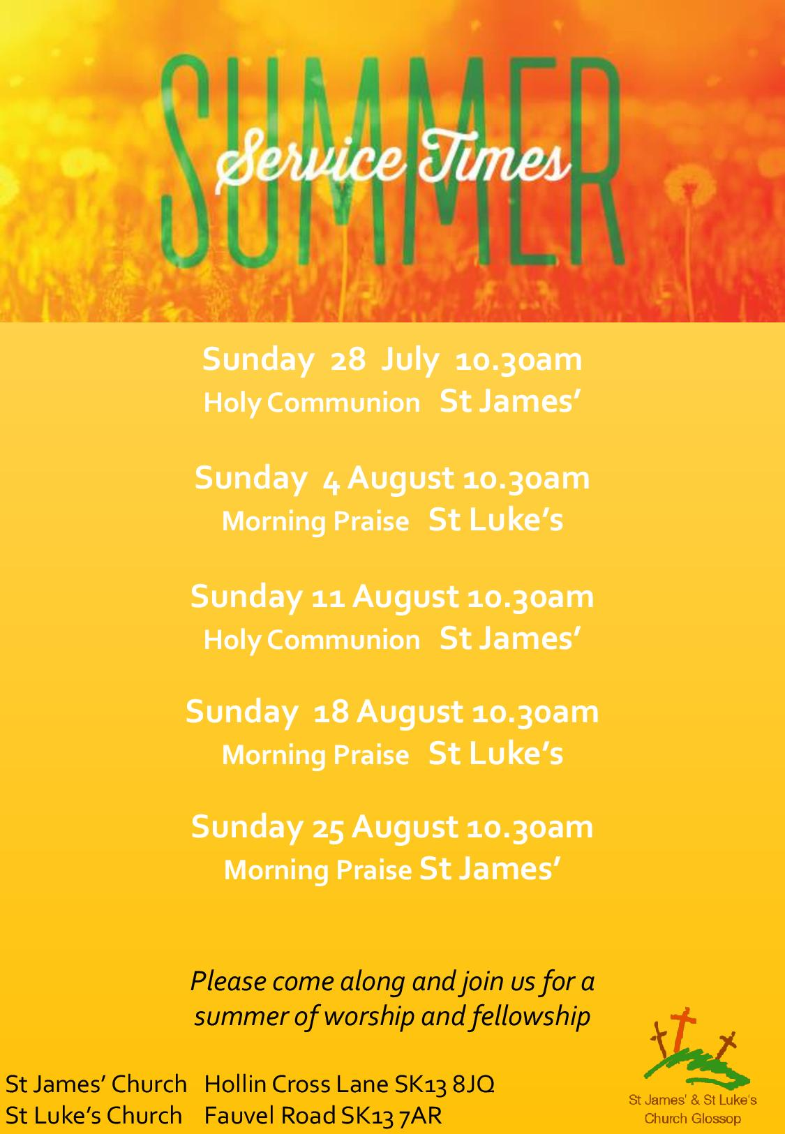 Whitfield Parish – St James' and St Luke's Church Glossop